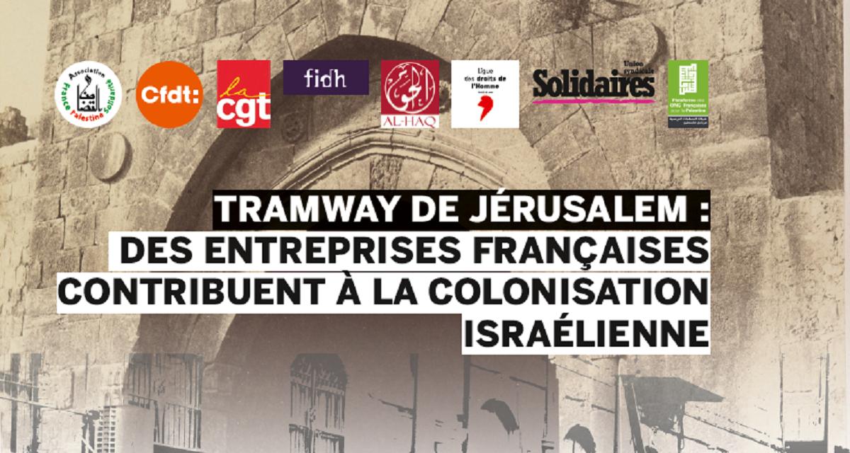 Dites-le aux entreprises : Désengagez-vous du tramway de Jérusalem !