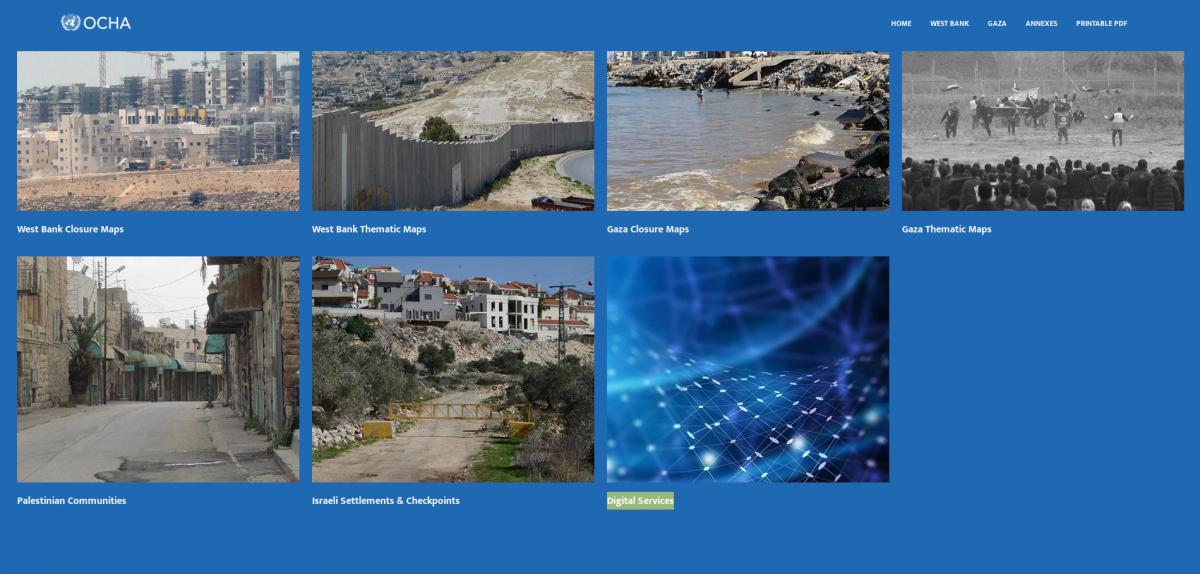 L'Atlas humanitaire du Bureau de Coordination des Affaires Humanitaires pour les territoires palestiniens occupés (OCHA-opt) est en ligne !
