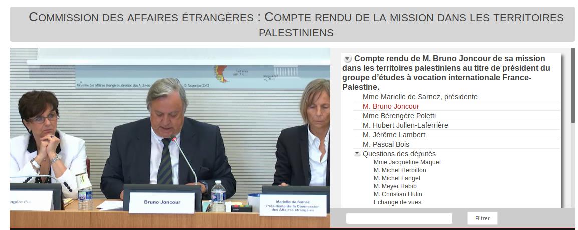 À voir : commission des affaires étrangères de l'Assemblée Nationale, compte rendu de la mission dans les territoires palestiniens