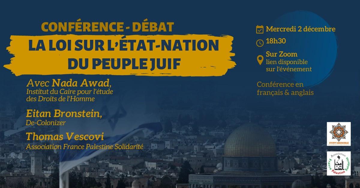 webconférence autour de la Loi sur l'État-nation du peuple juif !