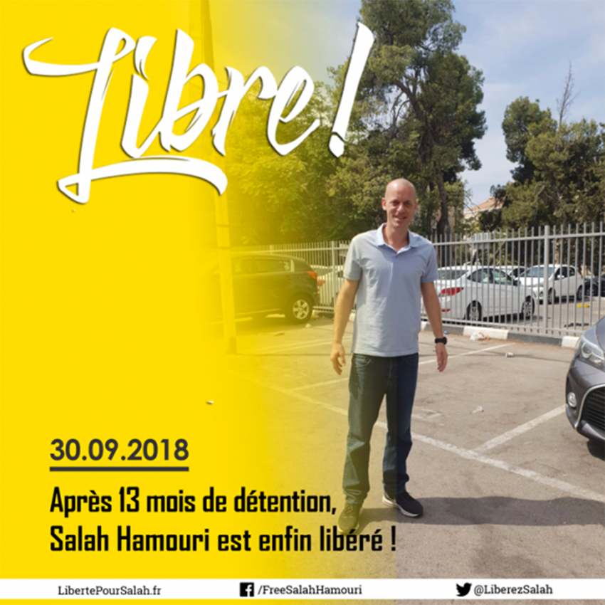 Salah Hamouri enfin libre !
